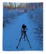 Photography In The Winter Fleece Blanket