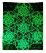 Photon Interference Fractal Fleece Blanket
