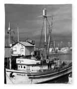 Phyllis Purse-seiner Monterey Wharf California  Circa 1940 Fleece Blanket