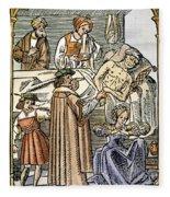 Physician & Plague Victim Fleece Blanket