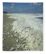 Phytoplankton Bloom On Beach Fleece Blanket