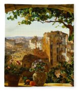 Piazza Barberini In Rome Fleece Blanket