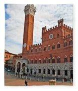 Piazza Del Campo Fleece Blanket