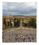 Piazza Del Popolo - Impressions Of Rome Fleece Blanket