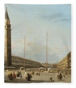 Piazza San Marco Looking South And West Fleece Blanket