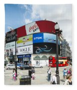 Picadilly Circus London Fleece Blanket