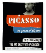 Picasso 40 Years Of His Art  Fleece Blanket
