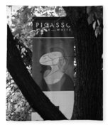 Picasso In Black And White Fleece Blanket