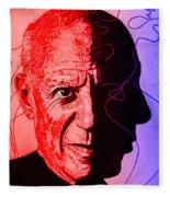 Picasso In Light Sketch 2 Fleece Blanket