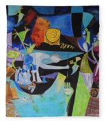 Picasso   Night Fishing At Antibes Fleece Blanket