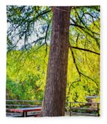 Picnic By The Cypress Fleece Blanket