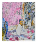 Picnic On The Beach Fleece Blanket