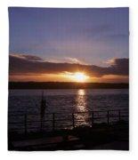 Picnic Sunset Vancouver Island Fleece Blanket