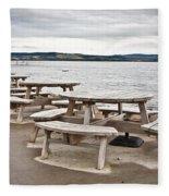 Picnic Tables Fleece Blanket