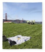 Picnicking At Golden Gate Park Fleece Blanket