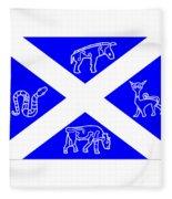 Pictish Scotland Flag 2 Fleece Blanket