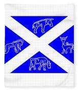 Pictish Scotland Flag Fleece Blanket