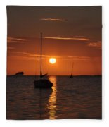 Picture Perfect Sunset Fleece Blanket