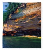 Pictured Rocks National Lakeshore, Lake Fleece Blanket