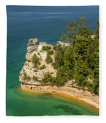 Pictured Rocks National Lakeshore Fleece Blanket
