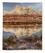 Picturesque Blue Canyon Formations Fleece Blanket
