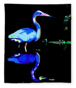 Pied Heron Fleece Blanket