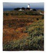 Piedras Blancas Lighthouse Fleece Blanket