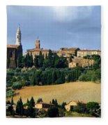 Pienza A Hill Town In Tuscany Fleece Blanket