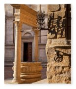 Pienza Tuscany Fleece Blanket