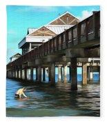 Pier 60 - Clearwater Florida  Fleece Blanket