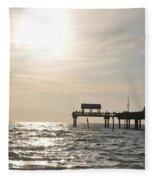 Pier 60  Near Sunset Fleece Blanket