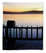 Pier At Bodega Bay California Fleece Blanket