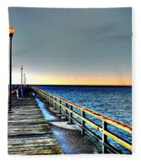 Pier - Chesapeake Bay Bridge #1 Fleece Blanket