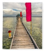 Pier Flags Fleece Blanket