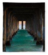 Pier Pylons Fleece Blanket