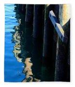 Pier Reflection Fleece Blanket