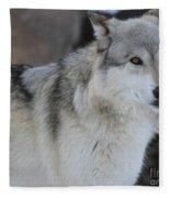 Piercing Eyes Fleece Blanket