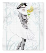 Pierrette In Love Fleece Blanket