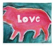 Pig Love Fleece Blanket