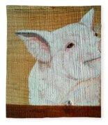 Pig Smile Fleece Blanket