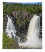Pigeon River High Falls 11 Fleece Blanket