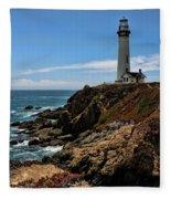 Pigeon Point Lighthouse Vertical Fleece Blanket