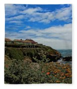 Pigeon Point Lighthouse Painted Fleece Blanket