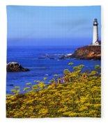 Pigeon Point Lighthouse Panoramic Fleece Blanket