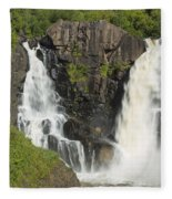 Pigeon River High Falls 2 Fleece Blanket