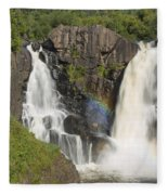 Pigeon River High Falls 4 Fleece Blanket
