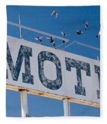 Pigeon Roost Motel Sign Fleece Blanket