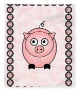 Piggy - Animals - Art For Kids Fleece Blanket