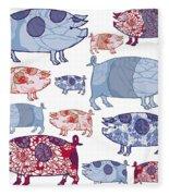 Piggy In The Middle Fleece Blanket