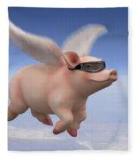 Pigs Fly Fleece Blanket